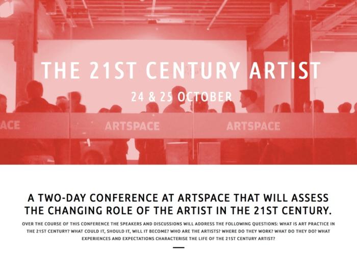 Alex Gawronski - 21st Century Artists Conference Artspace