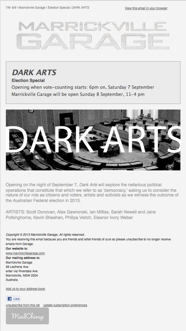 Alex Gawronski Dark Arts