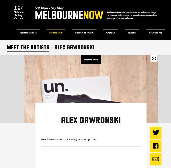Alex Gawronski - Melbourne Now