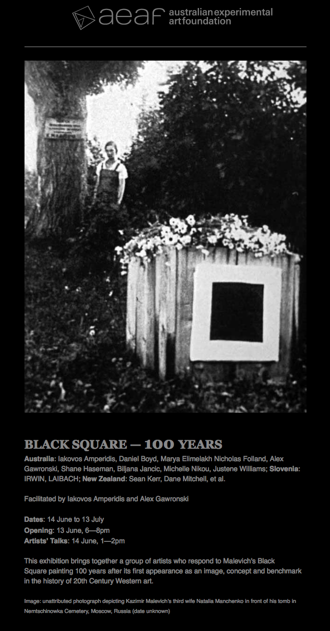 Alex Gawronski - AEAF, BLACK SQUARE - evite