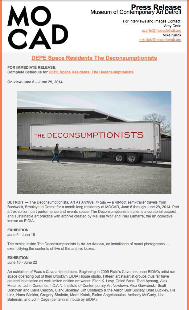 EIDIA - The Deconsumptionists MOCAD