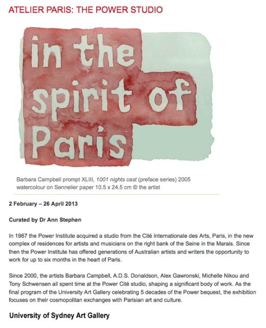 Power, Paris Atelier invite