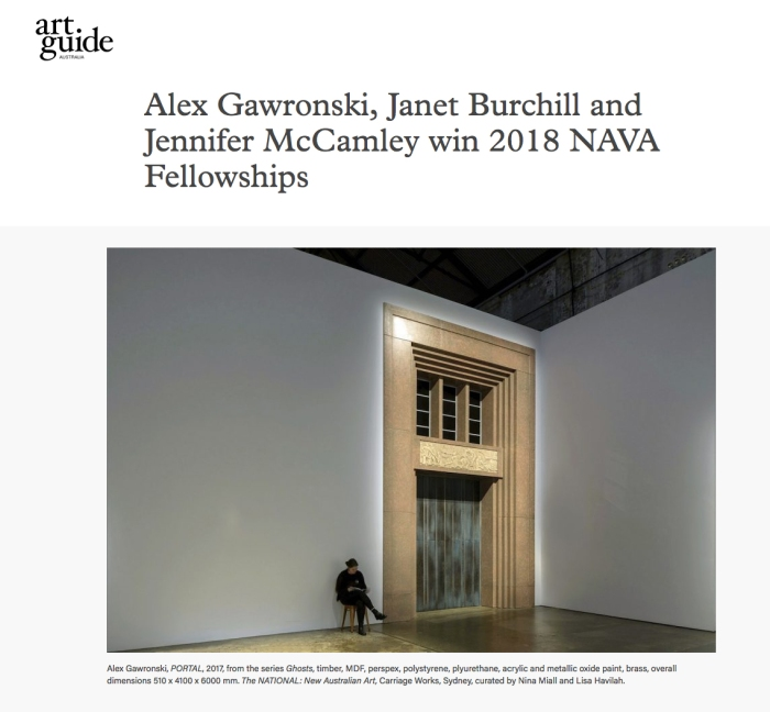 Alex Gawronski NAVA Fellowship 2018