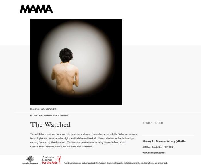 Alex Gawronski - The Watched - MAMA Albury
