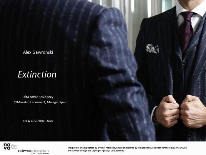 Alex Gawronski, Extinction, Malaga, 2020