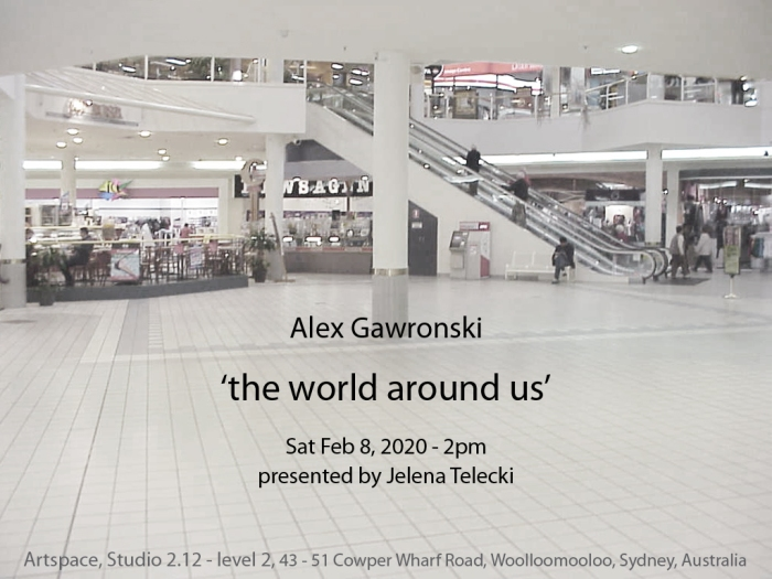 Alex Gawronski invite Artspace Studio Telecki