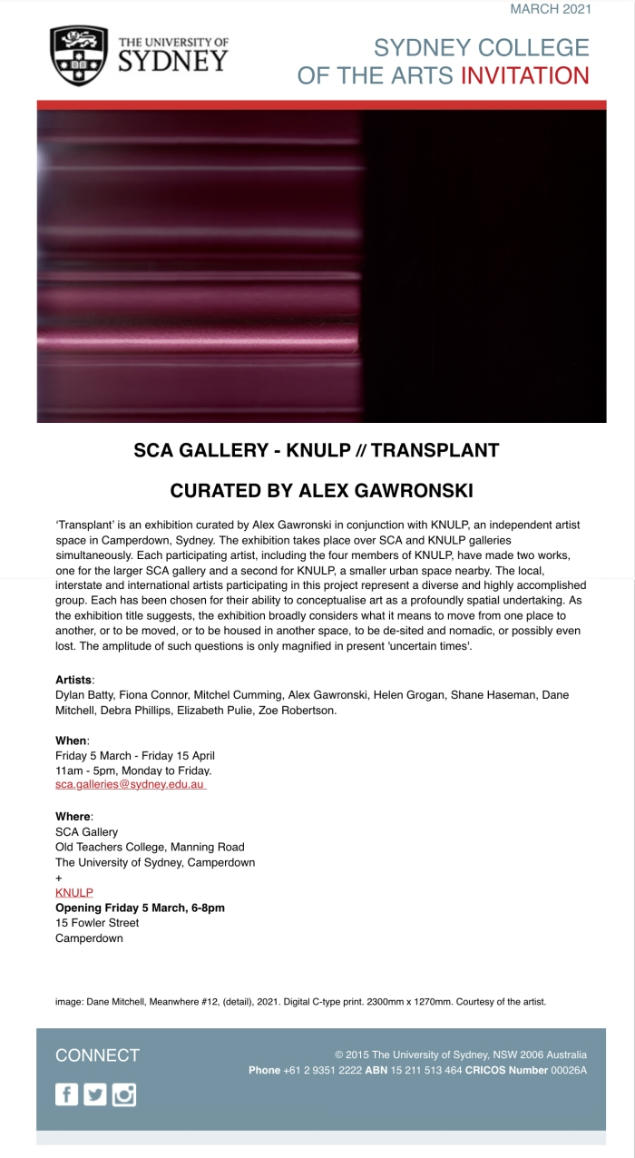 Alex Gawronski, SCA, KNULP, Transplant 2021